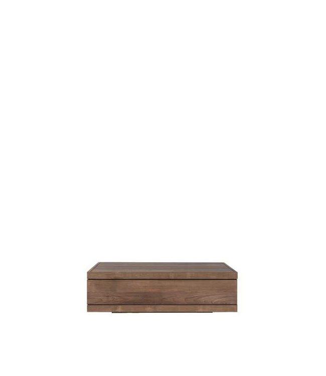 Teak Burger coffee table - 2 drawers  - FSC 100%