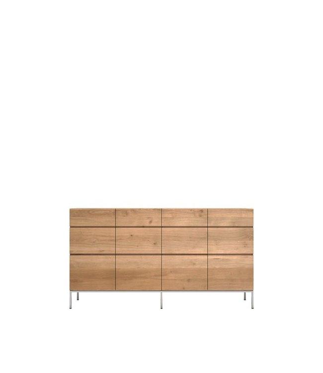 Oak Ligna sideboard high - 4 doors