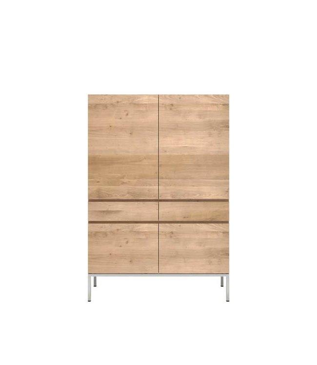 Oak Ligna storage cupboard - 4 doors / 2 drawers