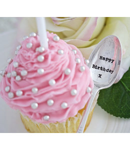 Level 2 Accessories etc Teaspoon - Happy Birthday