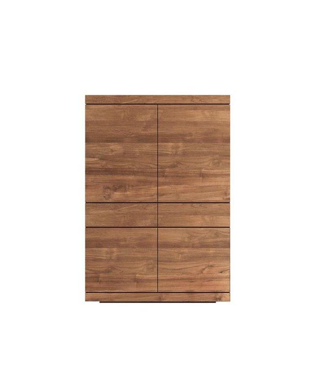 Teak Burger storage cupboard - 4 doors / 2 drawers