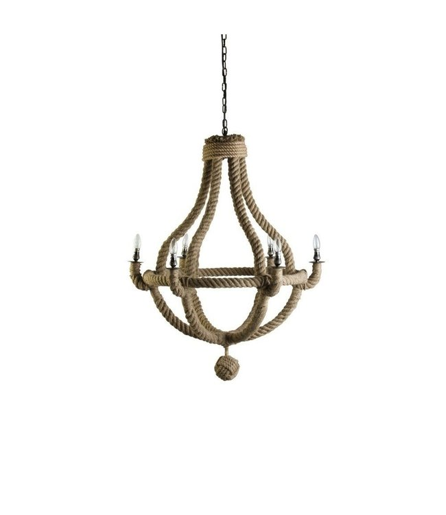 Level 2 Accessories etc Small Natural Rope Chandelier