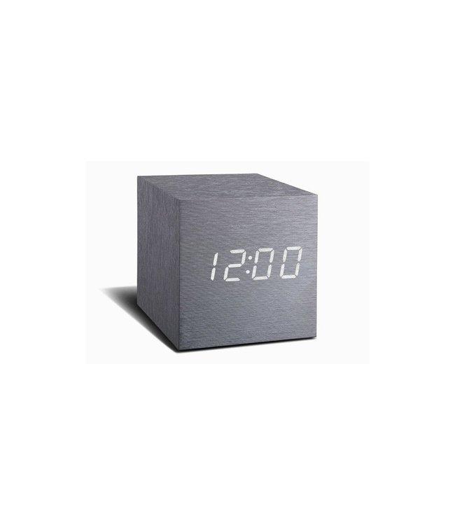 Level 2 Accessories etc Cube Aluminium Click Clock / White LED