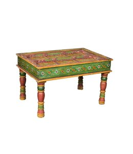 India - Old Furniture Painted Door Coffee Table