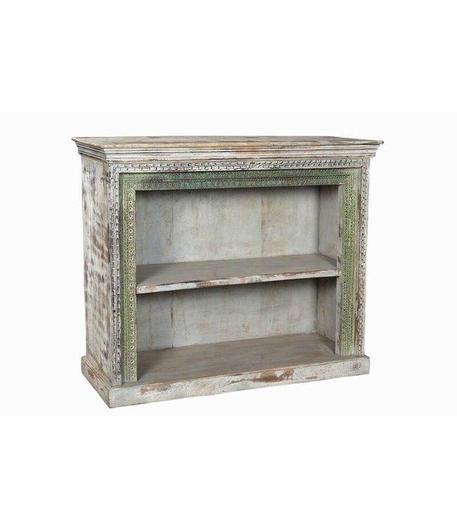 India - Old Furniture Original Carved Frame Bookcase