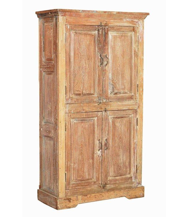 India - Old Furniture 4 Door Teak Cupboard