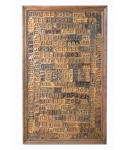 India - Old Furniture Panel Hindi Print Blocks
