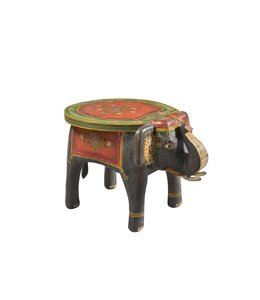 India - Old Furniture Wooden Elephant Stool