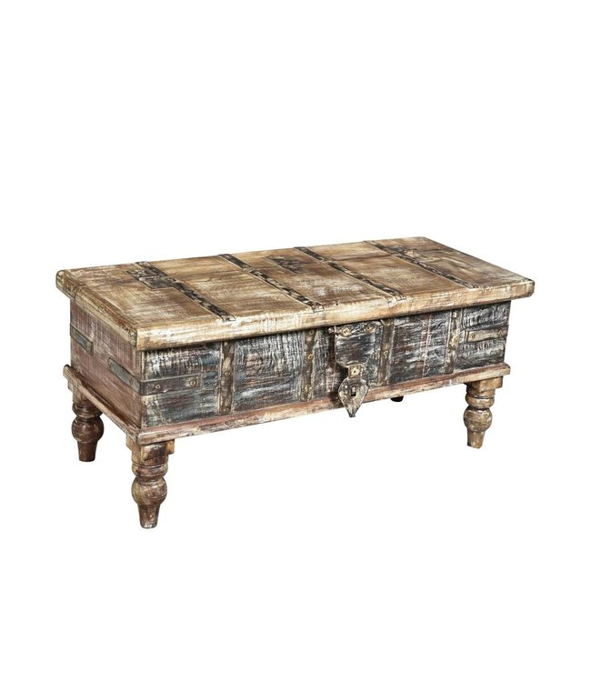 India - Old Furniture Small Blanket Box