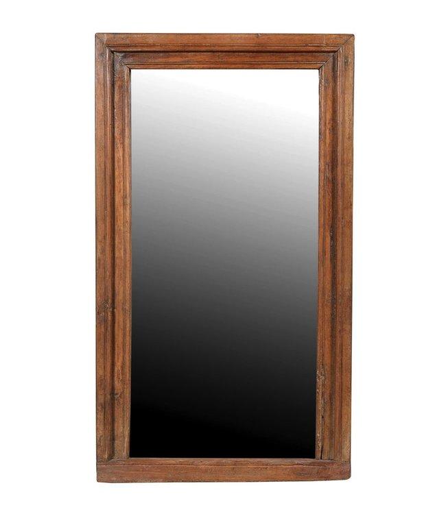 India - Old Furniture Large Teak Mirror
