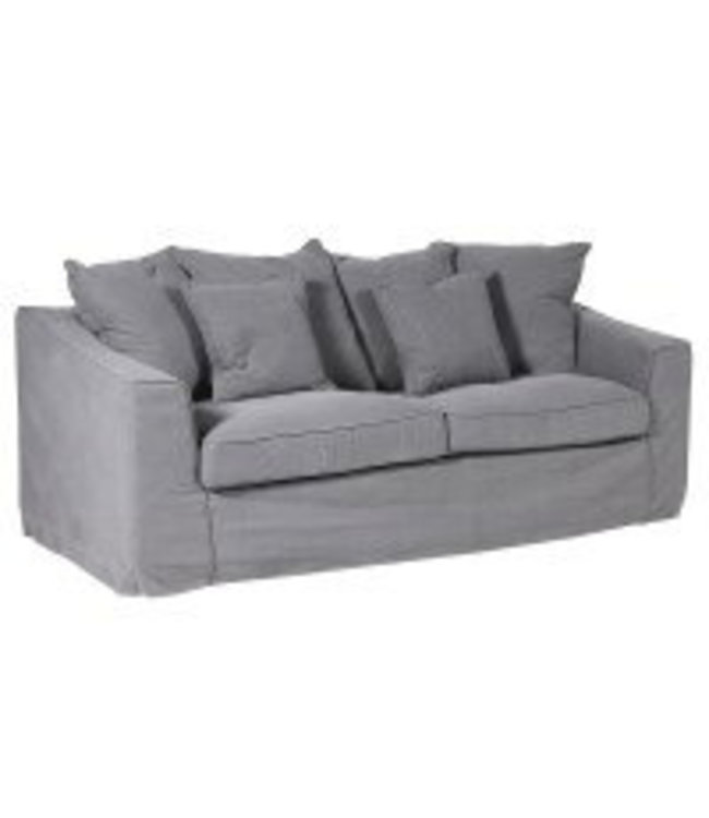 Grey/Blue Wash 3 Seater Sofa -