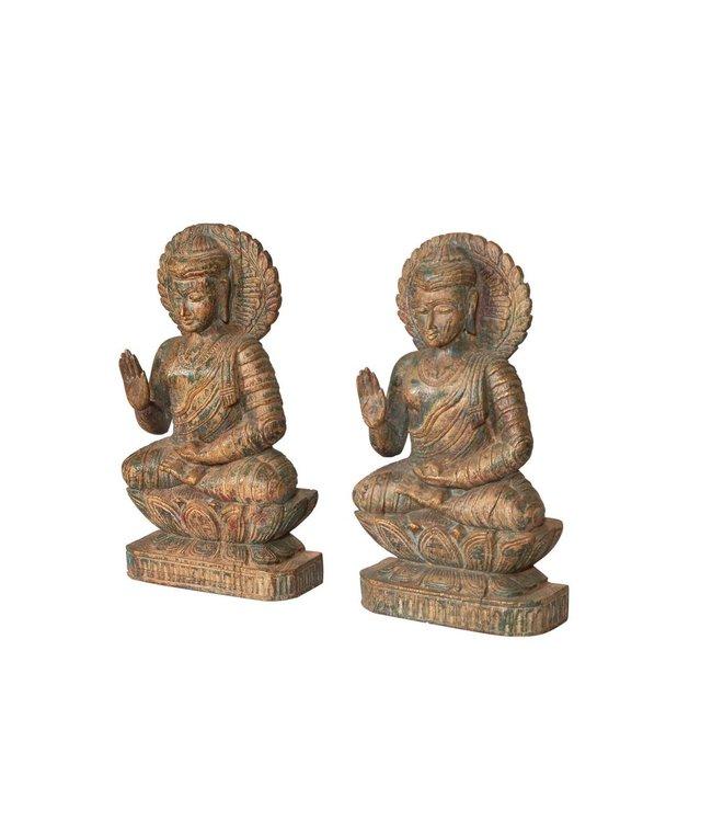 India - Handicrafts Wooden Buddha Statue