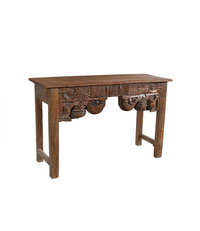 India - Old Furniture Console with sections of antique Indian carving