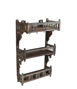 India - Old Furniture Unusual shelving rack