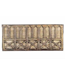 India - Old Furniture Original carved teak panel
