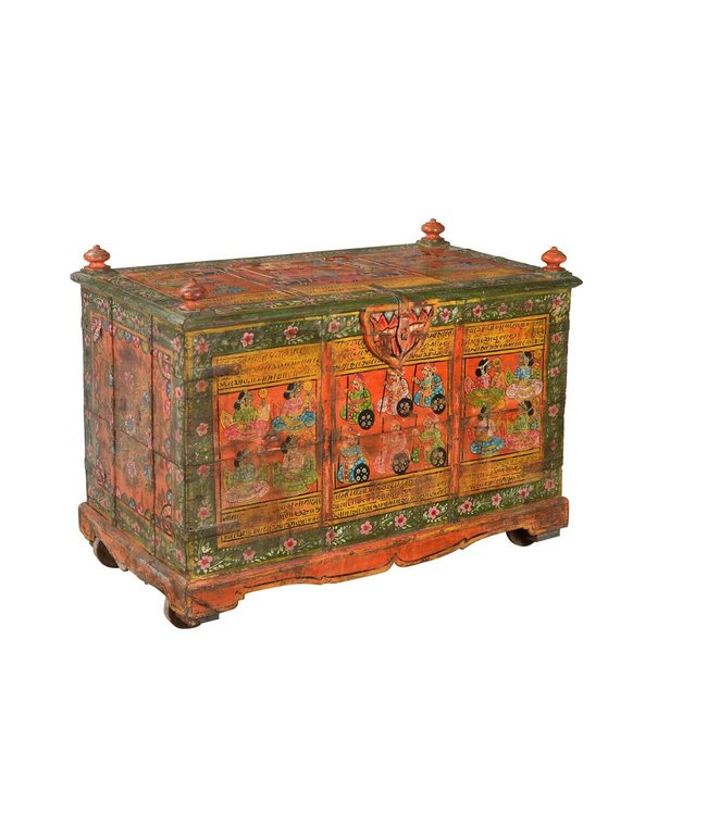 India - Old Furniture Old Painted Chest