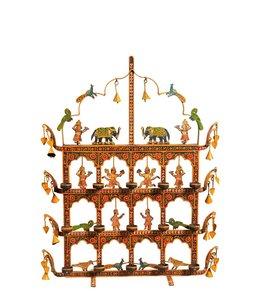 India - Handicrafts Painted Metal Toran Candle Holder
