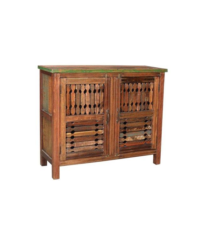 India - Old Furniture Cabinet with wooden tribal jali work