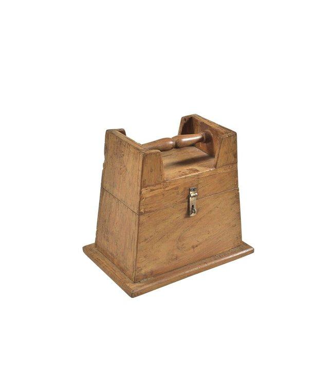 India - Handicrafts Teak 'Dumbell' style box