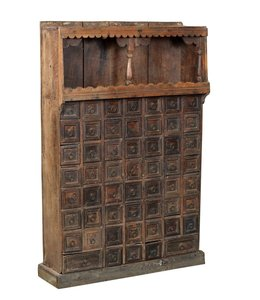 India - Old Furniture Old Indian Apothecary Chest