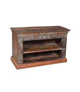 India - Old Furniture Reclaimed Teak Shelf Unit