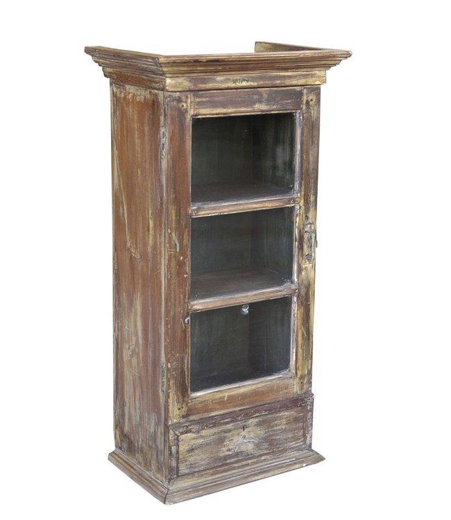 India - Old Furniture Old Glazed Cabinet