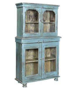 India - Old Furniture Original Indian Glazed Almirah