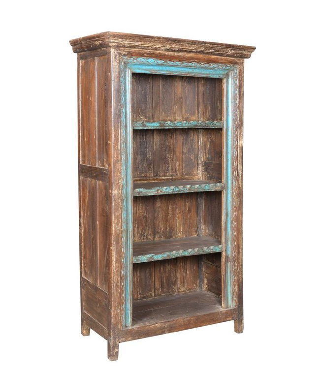 India - Old Furniture Reclaimed Teak Bookcase