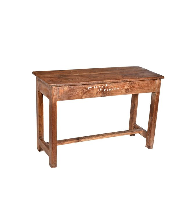 Old Teak Side Table