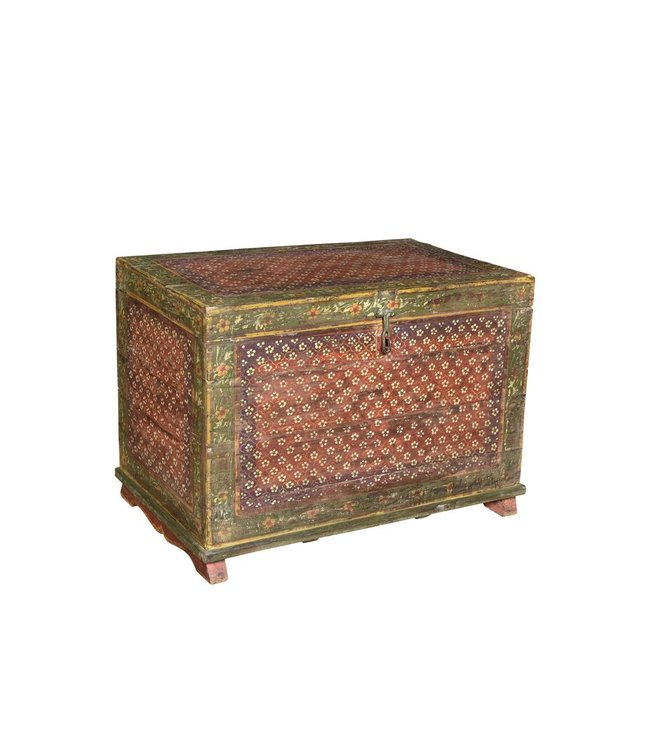 Hand Painted Antique Chest