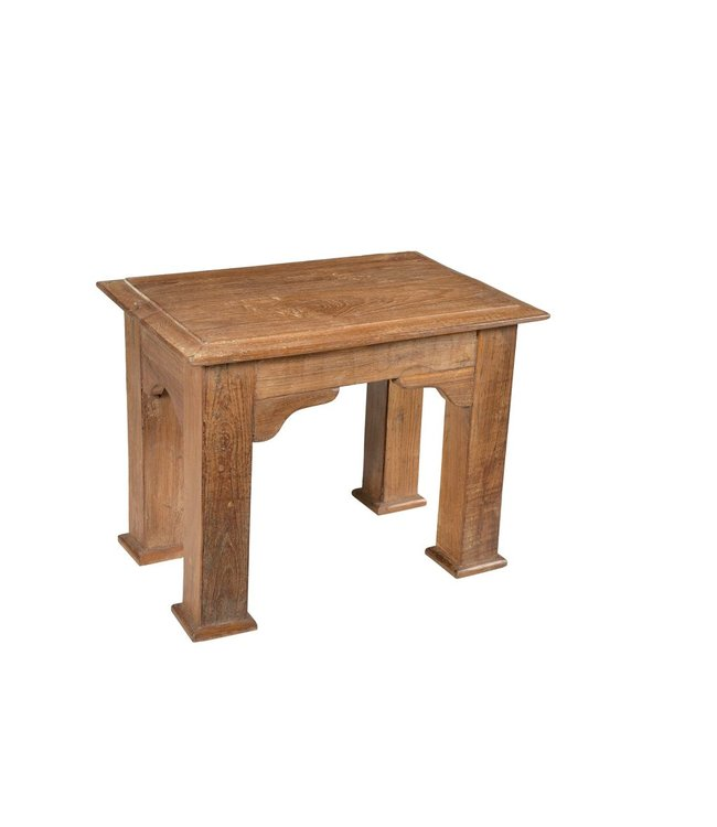 India - Old Furniture South Indian Teak Side Table