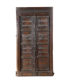 India - Old Furniture Original Indian Doors with Frame