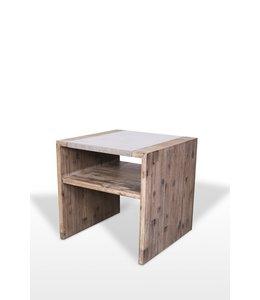 Vietnamese Concrete Tara Acacia Side Table