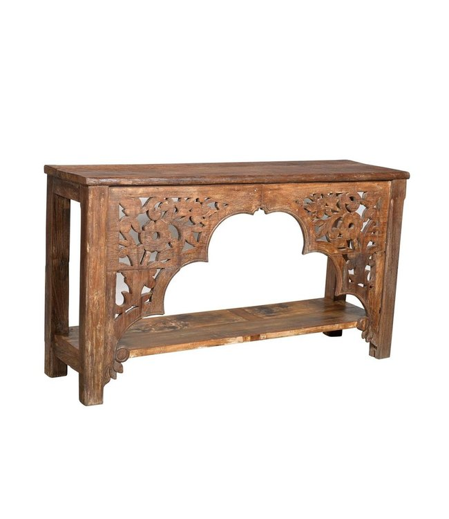 India - Old Furniture Console table upcycled from an old Mughal Arch