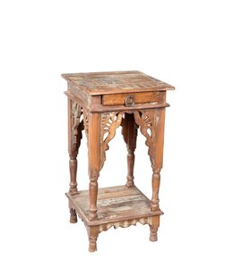 India - Old Furniture Hand painted side table