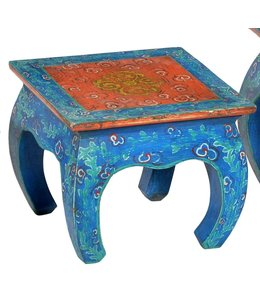 India - Old Furniture Hand painted opium table - Medium
