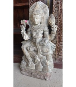 India - Handicrafts Wooden Carved Statue of Durga