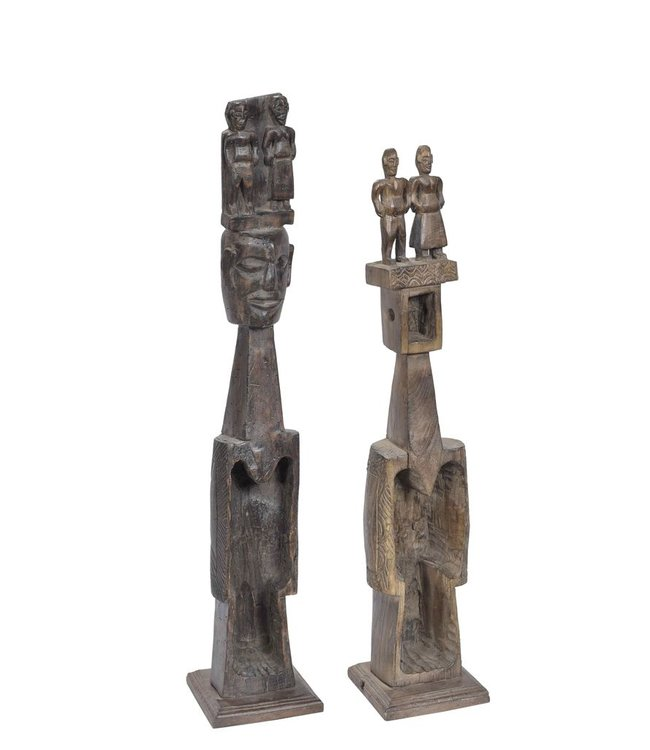 India - Handicrafts Old tribal carvings