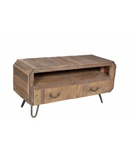 India - Old Furniture Deco style TV cabinet from recycled teak