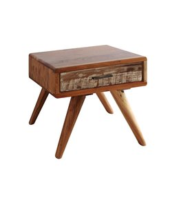 Zen Acacia Small Bedside Cabinet
