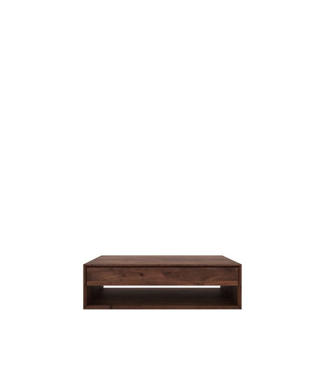 Walnut Nordic coffee table - 1 drawer