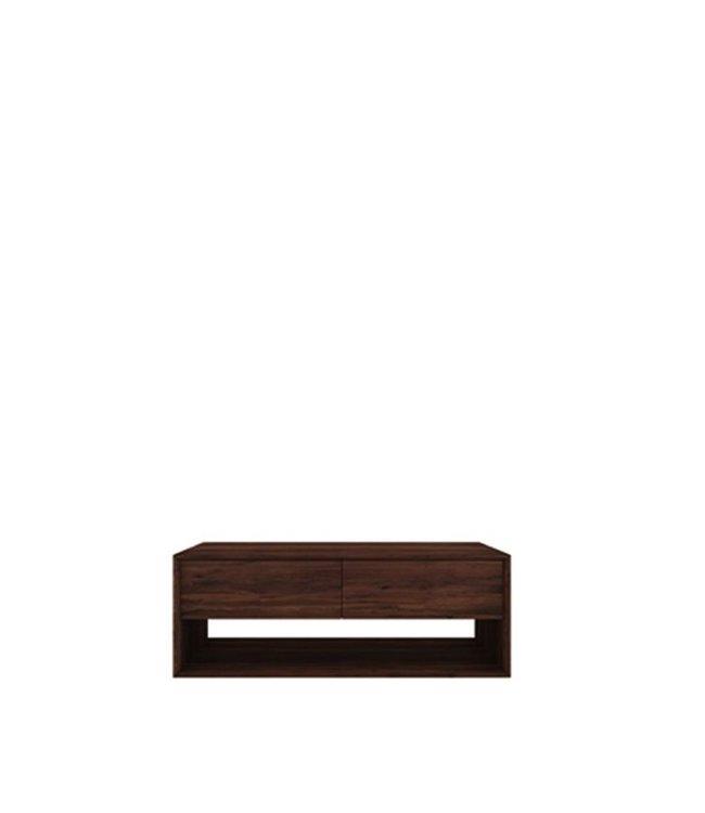 Ethnicraft Walnut Walnut Nordic TV cupboard - 1 flip-down door - 1 drawer 120cm