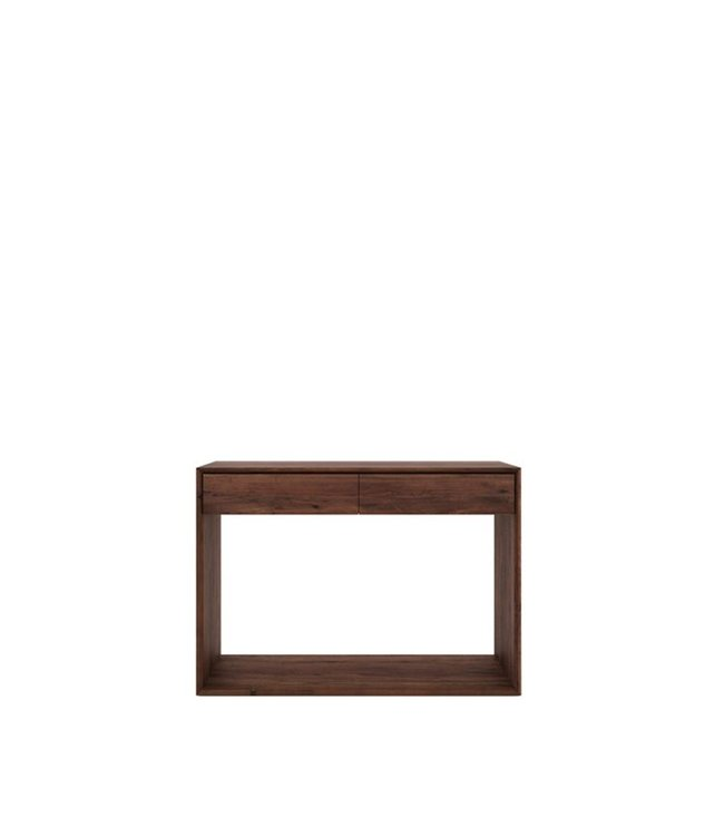 Walnut Nordic console - 2 drawers 120cm