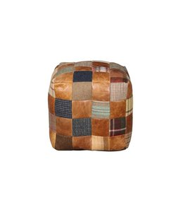 Furniture - UK & Euro Beanbag Cube Leather & Wool Mix