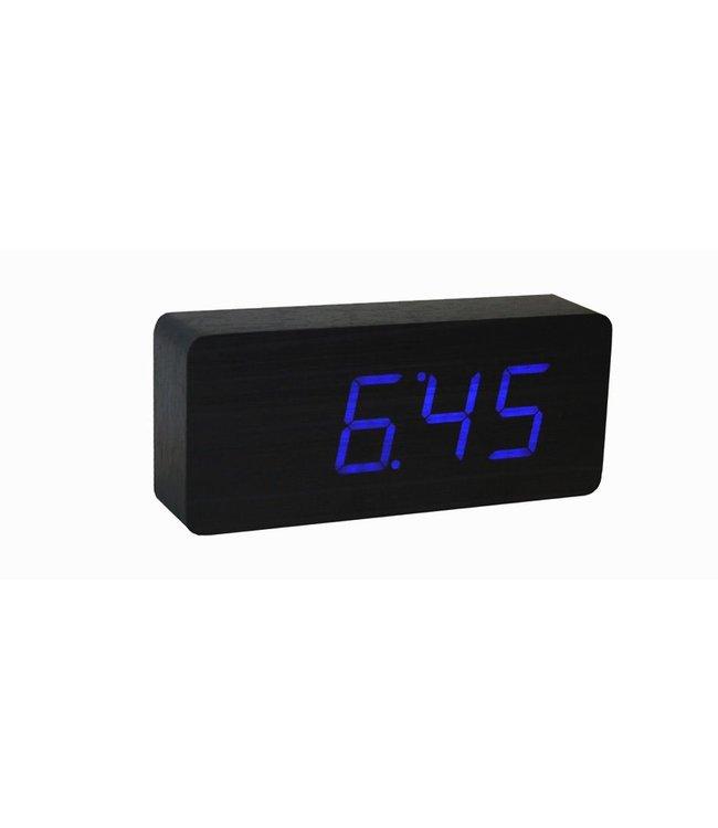 Slab Black Click Clock / Blue LED