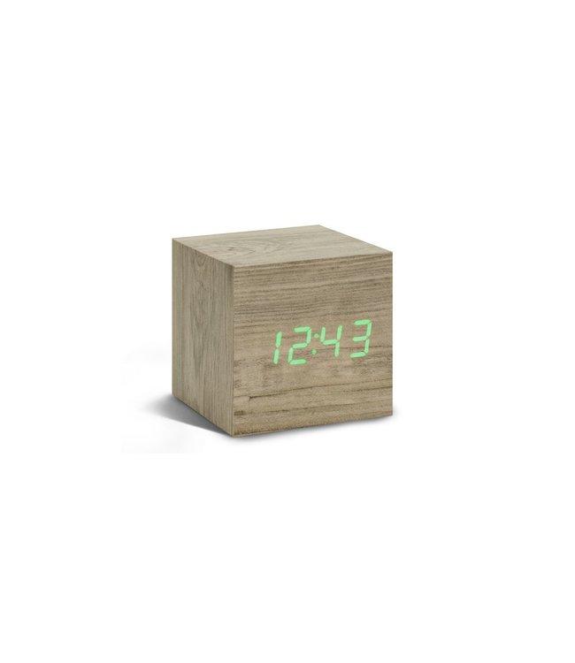 Level 2 Accessories etc Cube Ash Click Clock / Green LED