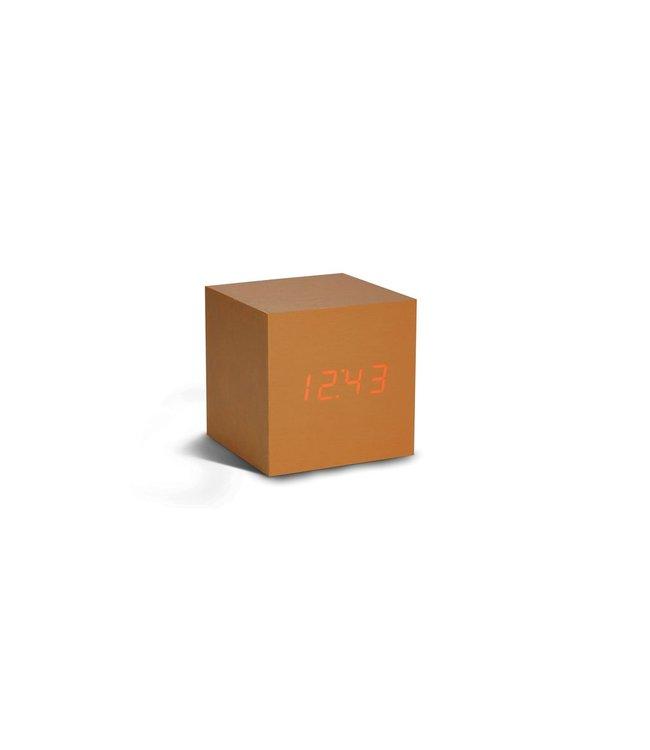 Cube Copper Click Clock / Red LED