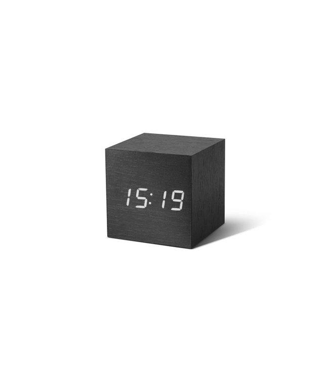 Cube Black Click Clock / White LED