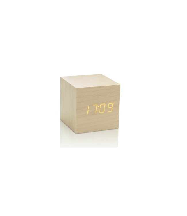 Level 2 Accessories etc Cube Maple Click Clock / Yellow LED