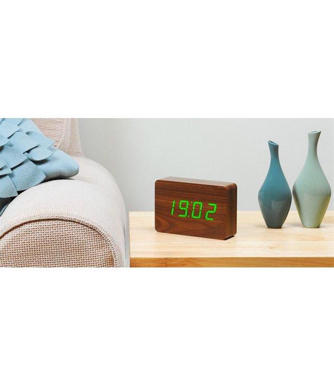 Level 2 Accessories etc Brick Walnut Click Clock / Green LED